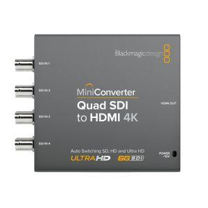 Blackmagic CONVMBSQUH4K2 | Mini Convertitore da Quad SDI a HDMI 4K | Convertitori | Distributori