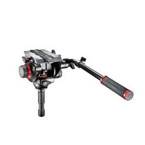 Manfrotto 504HD,546GBK | Kit treppiede video 546GB, testa fluida 504HD e base a stella 165MV per telecamere e fotocamere con portata fino a 12,0 kg | Kit con gambe