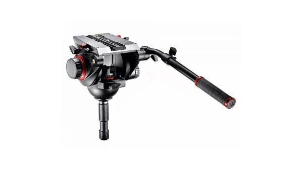 Manfrotto 509HD,545GBK   Kit treppiede video 545B, testa fluida 509HD e base a stella 165MV per telecamere e fotocamere con portata fino a 13,5 kg   Kit con gambe
