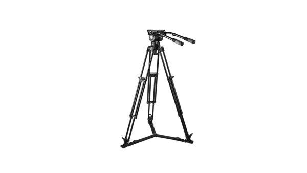 E image EG20A | EG20A Kit treppiede video e testa fluida per telecamere e fotocamere con portata fino a 20 kg | Kit con gambe